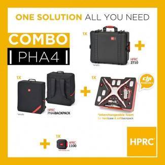 Фото1 Набор 3 в 1 для переноски Phantom 4 - кейс пластиковый + сумка рюкзак + наполнитель