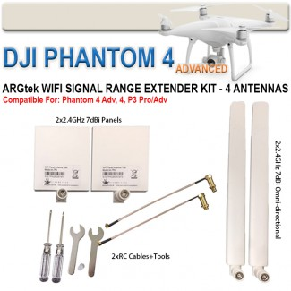 Фото2 EXT2PLUS - Комплект расширения диапазона для DJI Phantom P4/P3 PRO/P3 Advanced