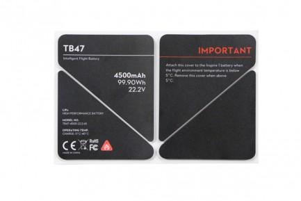 Фото1 Стикер-наклейка для батареи TB47 серия Inspire 1
